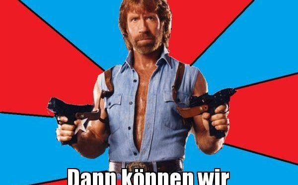 Jokes about Chuck Norris in German