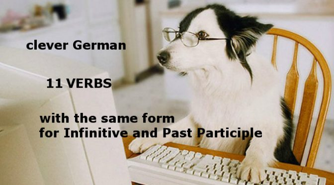 Verbs with the same form for Past Participle and Infinitive (A2)